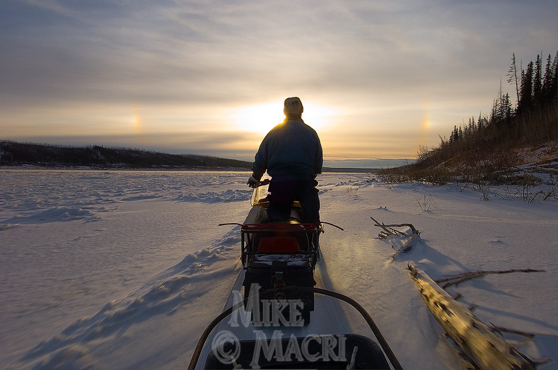 Ernie traveling the Churchill river