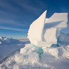 pressure ice at the floe edge can sometimes create its own sculptures.