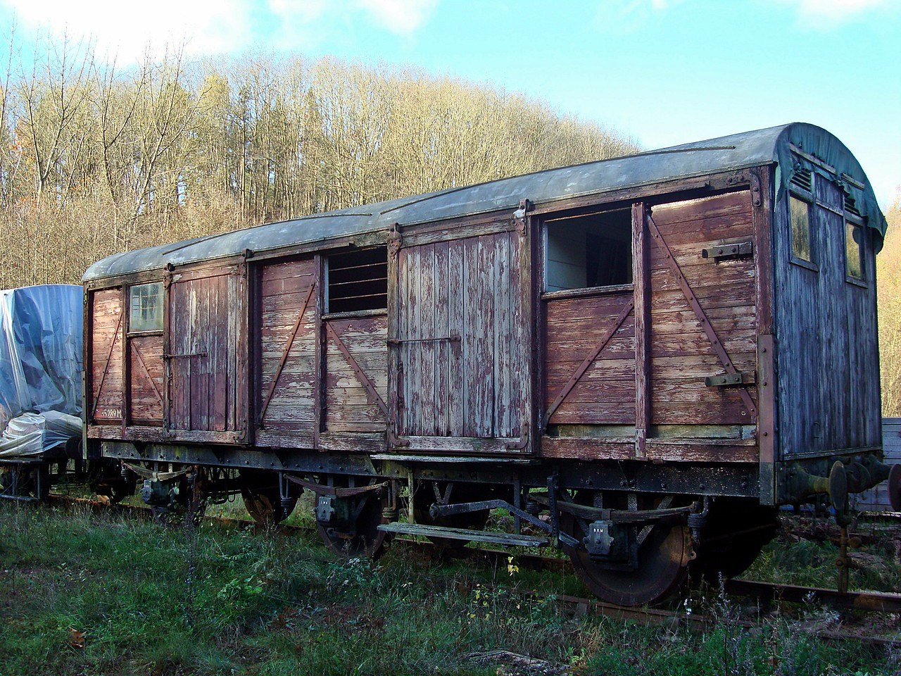 LMS 4384 (35289) Covered Carriage Truck 13,11,2010. (Now At Foxfield Railway)