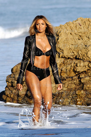 Exclusive___ Ciara Princess Harris during the filming of her new clip in Malibu,California.