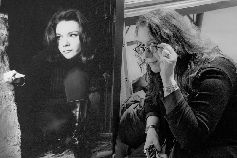 Emma Peel and Maura C in are almost mirror images of each other!