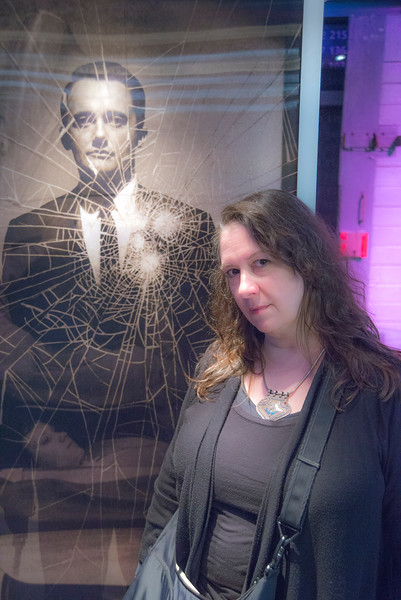Napoleon Solo gives Maura the blank stare.