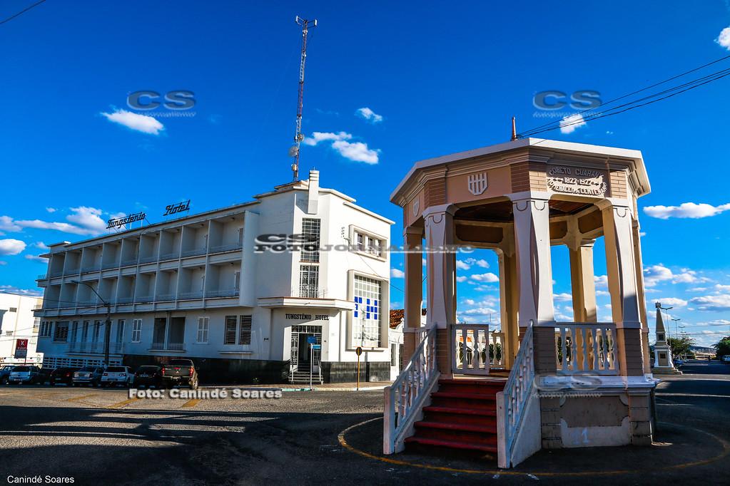 Tungstênio Hotel e Coreto no Centro da Cidade