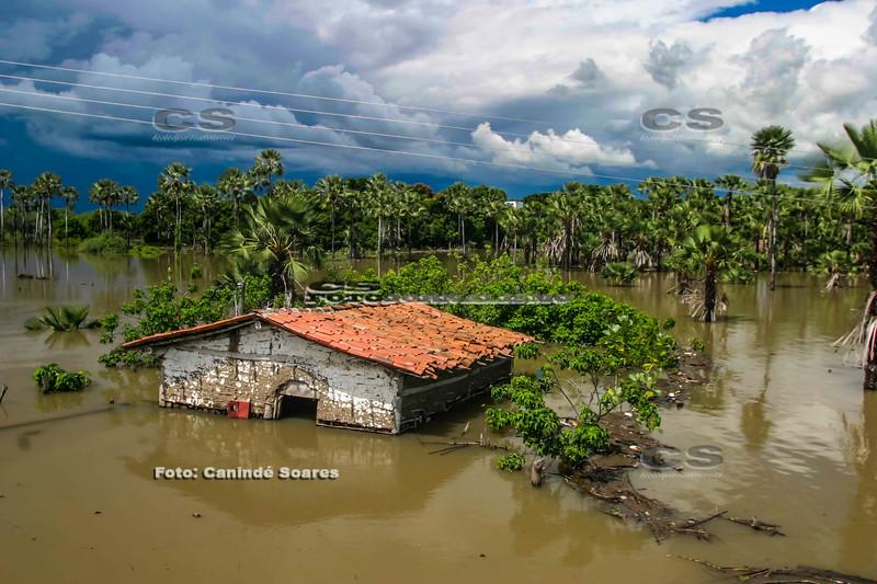 Inundação em abril de 2008