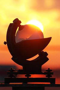 Héliographe au lever du soleil