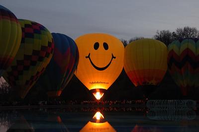 Hot Air Balloon Glow - Balluminaria Eden Park