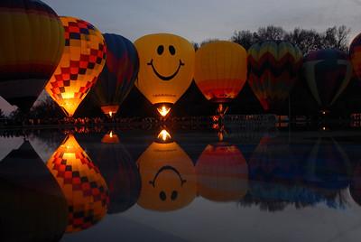 Pre-Glow Hot Air Balloon Glow