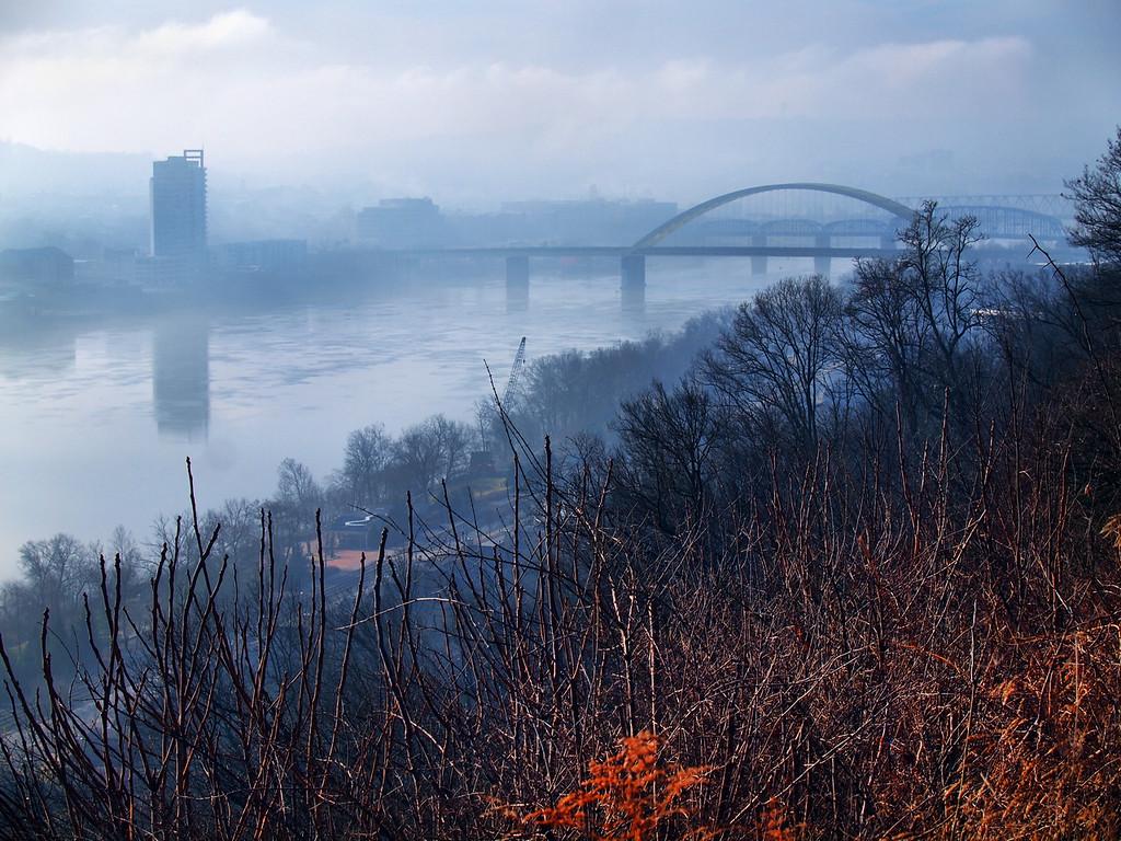 Foggy Newport Kentucky