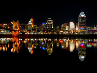 Cincy Skyline Reflection