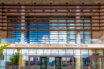 Entrance to National Underground Railroad Freedom Center