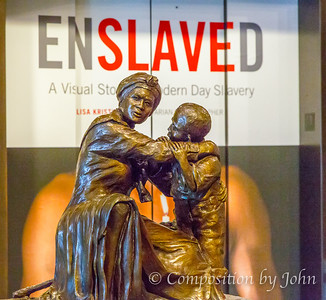 statue at elevator