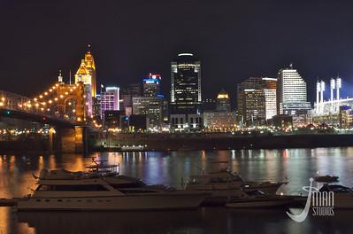 Cincinnati Skyline from Covington Landing