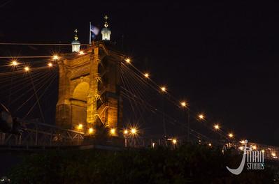 Roebling Suspension Bridge - Cincinnati, Ohio