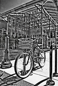 findlay market bike 2_HDR2_BW