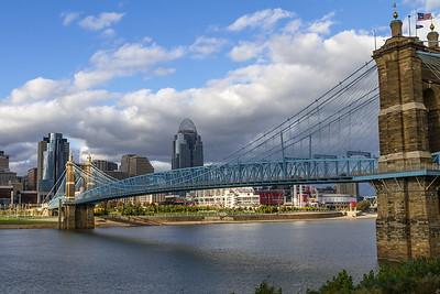 Downtown Cincinnati in late October