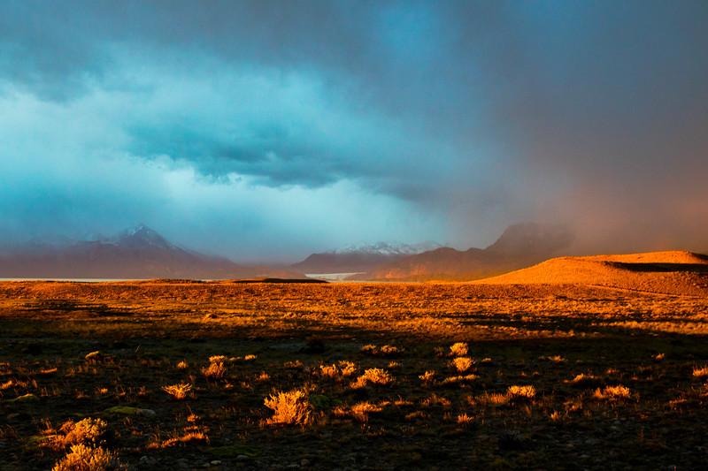 Fiery Sunrise in Patagonia.