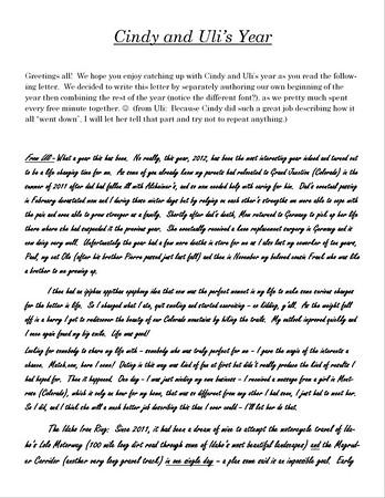 2012 Christmas Letter