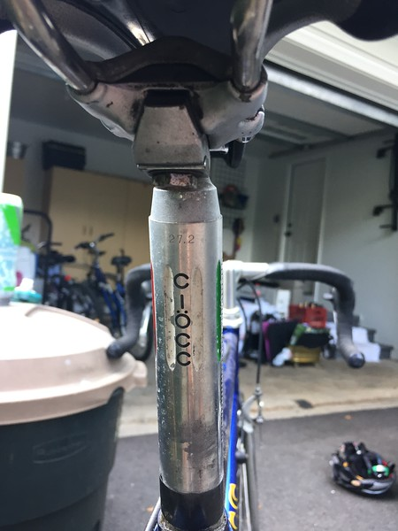Panographed logo on back of seat post