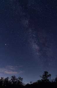 The Milky Way was partially visible with a windmill as a distant foreground at Tres Locos