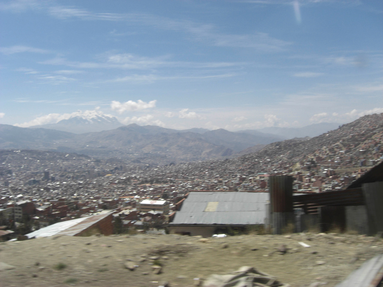 The first view of the city at 4200m
