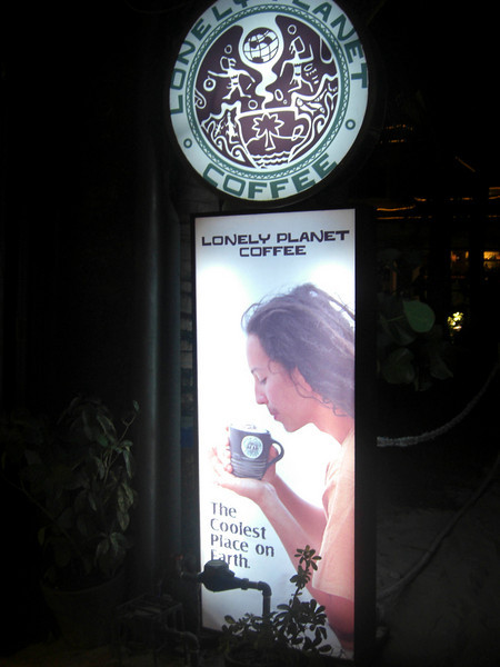Our guide books meet coffee, Boracay Island, Philippines