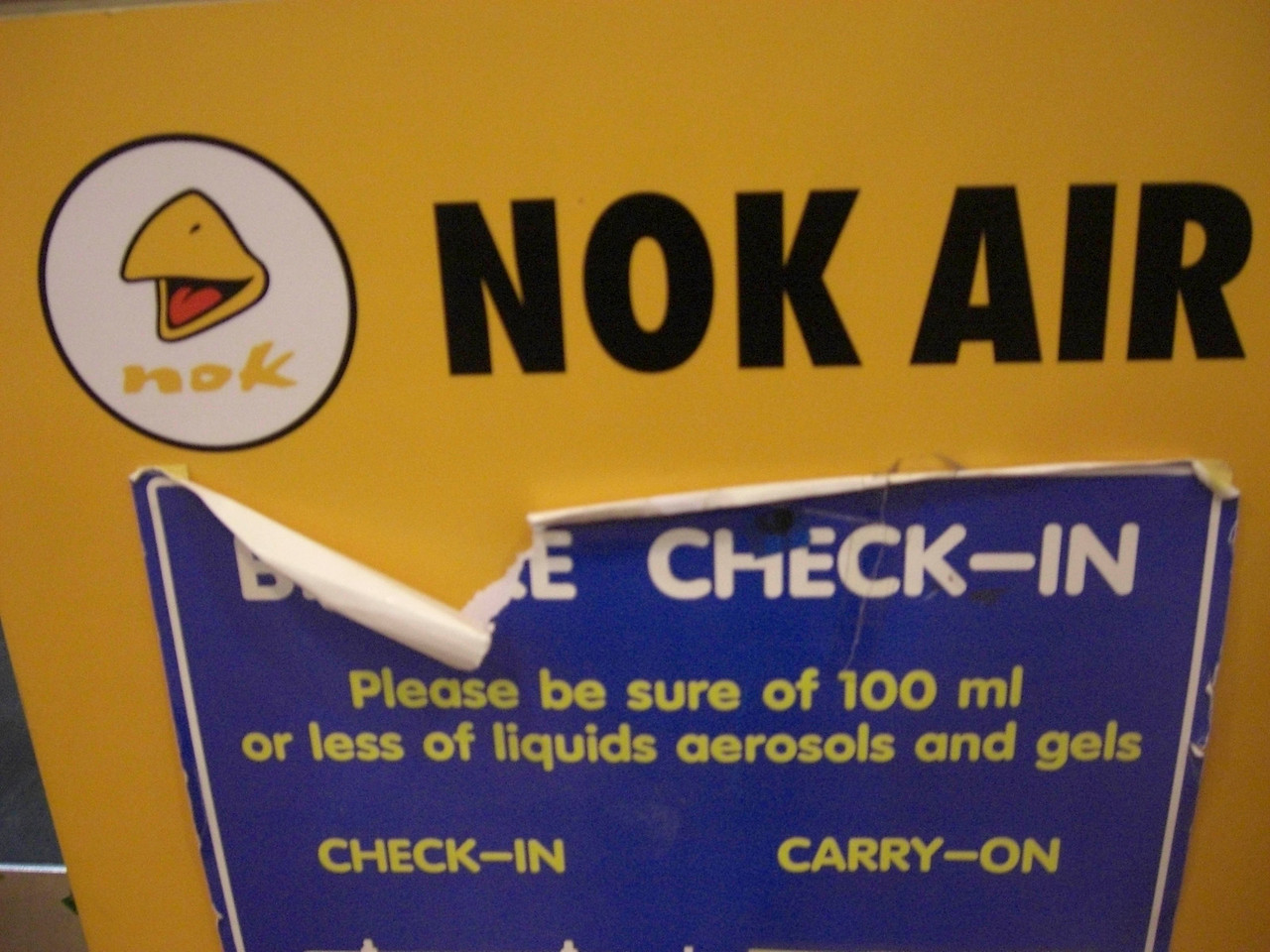 Check in at Nok Air, Thailand
