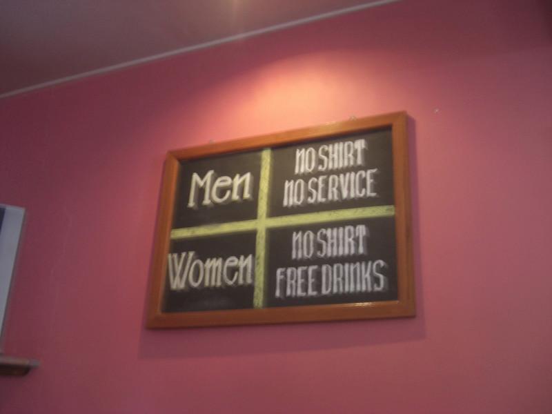 On the wall in the Sports Bar, Mui Ne, Vietnam