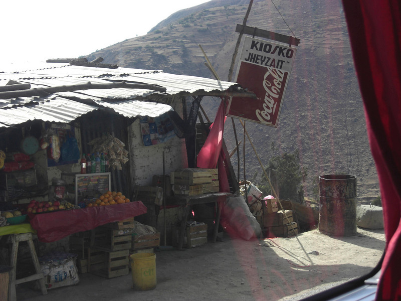 Road side market on the trip to Lima from Huaraz