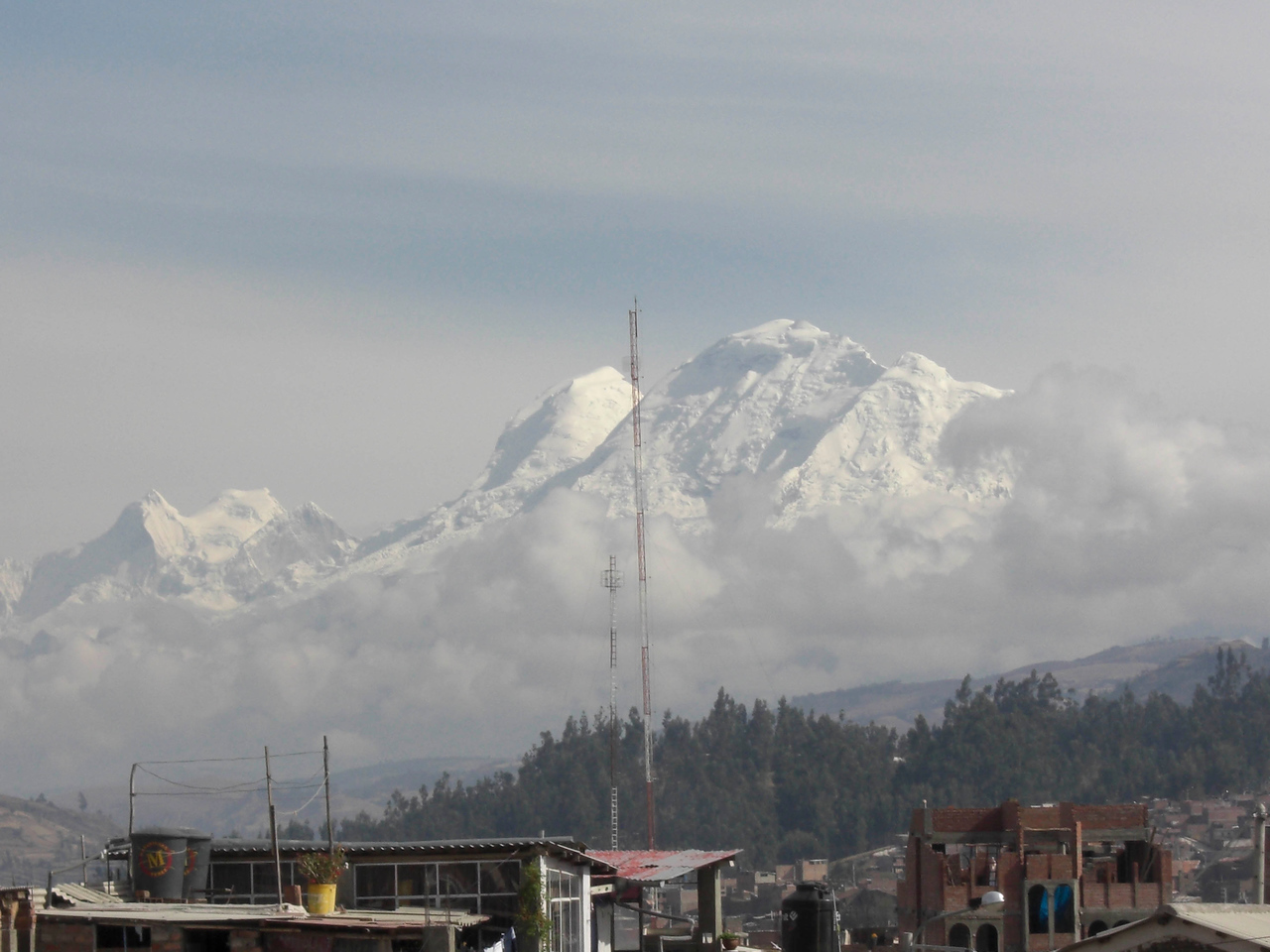 Cordillera Blanca, the view from our breakfast table