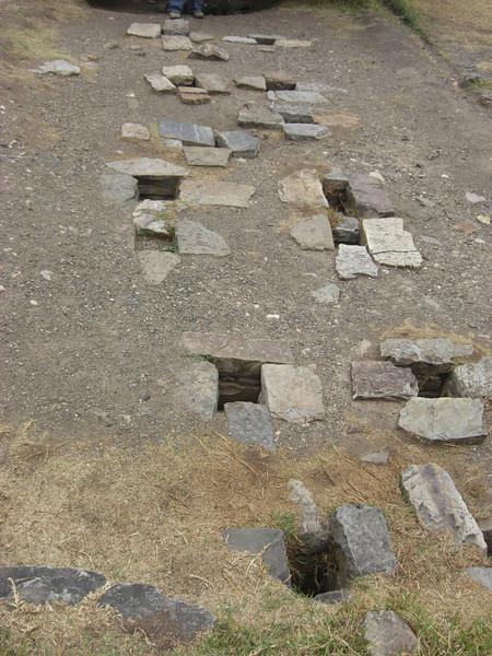 Chavin - water holes used in ceremonies