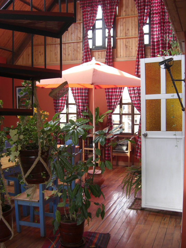 The inside of our hostel...we loved this place