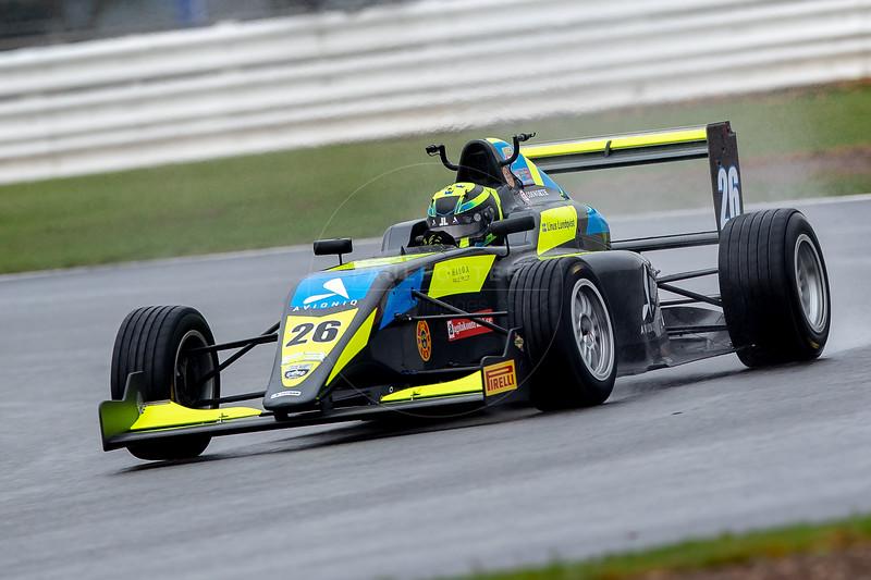 Linus Lundqvist 2018 British F3 Champion, British F3 Championship, Silverstone Circuit, Silverstone, Northamptonshire, England
