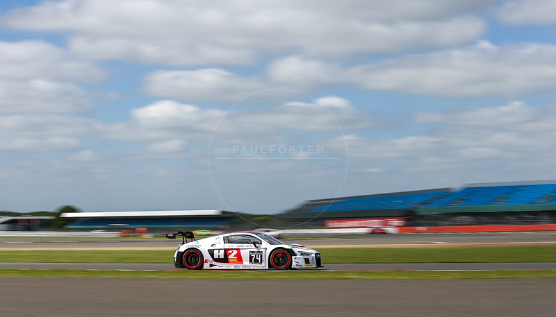 ISR Philippe Giauque CHE / Henry Hassid FRA / Franck Perera FRA Audi R8 LMS during free practice 1 for the Blancpain GT Series Endurance Cup held at Silverstone Cicuit, Northamptonshire, England on May 14th 2016