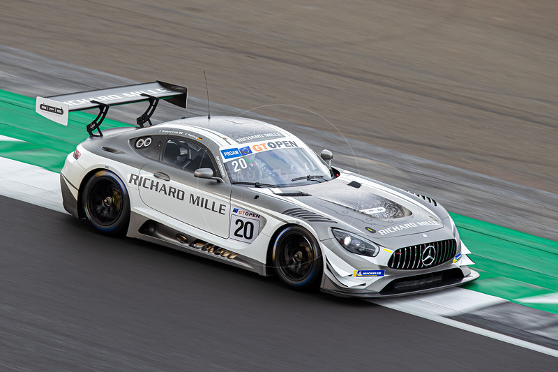 #20 SPS Automotive Performance DEU Tom Onslow-Cole GBR Valentin Pierburg DEU Mercedes AMG GT3 GT3 PROAM, International GT Open, Silverstone Circuit, Silverstone, Northamtonshire,England