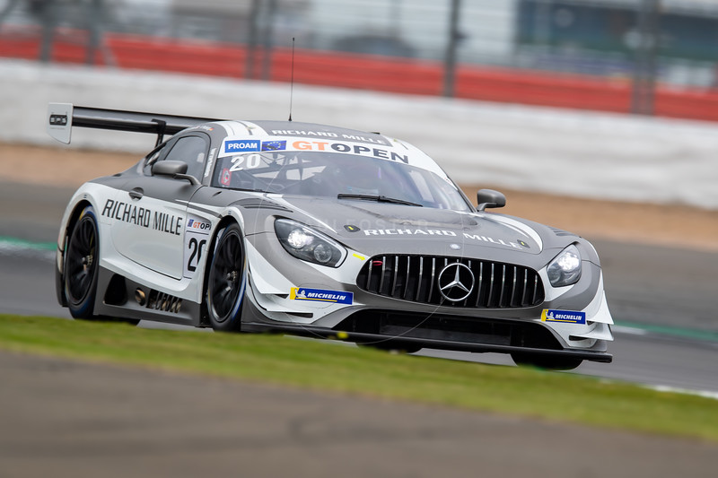 \#20 SPS Automotive Performance DEU Tom Onslow-Cole GBR Valentin Pierburg DEU Mercedes AMG GT3 GT3 PROAM, International GT Open, Silverstone Circuit, Silverstone, Northamtonshire,England