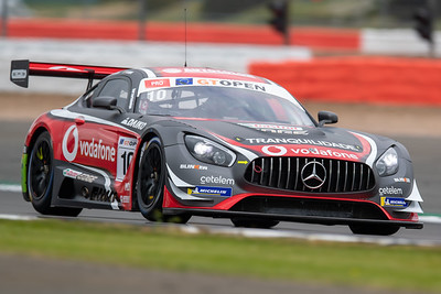 #10 SPS Automotive Performance DEU Fabrizio Crestani ITA Miguel Ramos PRT Mercedes AMG GT3 GT3 PRO, International GT Open, Silverstone Circuit, Silverstone, Northamtonshire,England