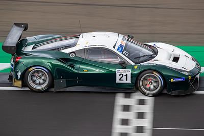 #21 Spirit of Race ITA Matt Griffin IRL Duncan Cameron GBR Ferrari 488 GT3 GT3 PROAM, International GT Open, Silverstone Circuit, Silverstone, Northamtonshire,England