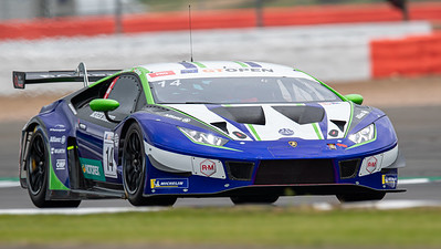 #14 Emil Frey Racing CHE Mikael Grenier CAN Norbert Siedler AUT Lamborghini Huracan GT3 EVO GT3 PRO, International GT Open, Silverstone Circuit, Silverstone, Northamtonshire,England