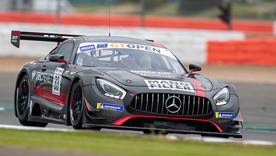 #33 HTP Motorsport / Winward Racing DEU Indy Dontje NLD Russell Ward USA Mercedes AMG GT3 GT3 PROAM, International GT Open, Silverstone Circuit, Silverstone, Northamtonshire,England
