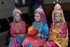 Portrait-of-three-Acehnese-beauties,-Banda-Aceh,-Sumatra