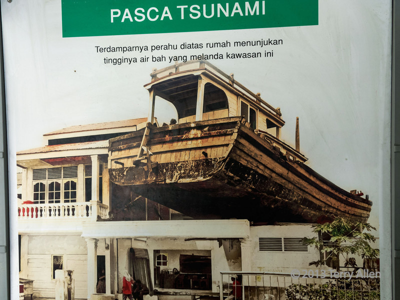 Photo-from-the-tsunami-museum-showing-the-boat-that-landed-on-the-house,-Banda-Aceh,-Sumatra<br /> <br /> This is probably one of the most iconic images from the tsunami