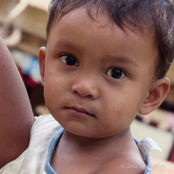 Portrait of a baby boy, Bukit Lawang, North Sumatra