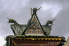 Batak-roof-posts,-North-Sumatra