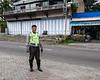 Police-escort,-Belewan,-Sumatra