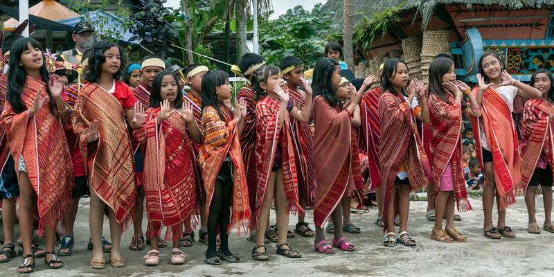Batak-children's-choir,-Lingga-Brastagi,-North-Sumatra