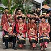 Batak-beauties-waiting-for-welcome-ceremony,-Lingga-Brastagi,-North-Sumatra