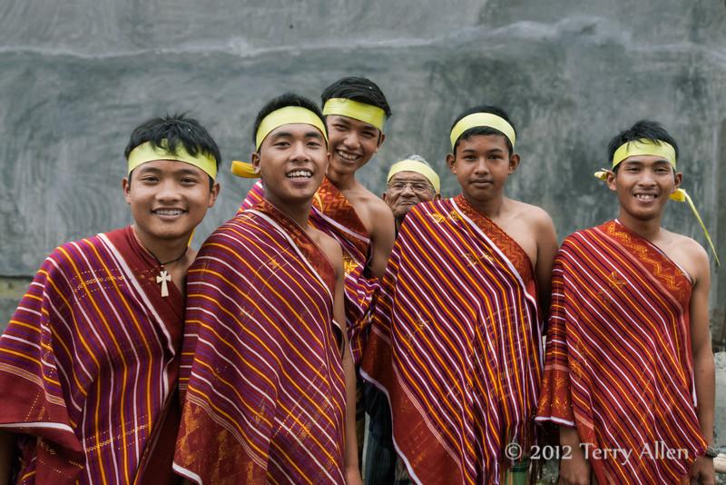 Batak-youth-and-one-little-old-man,-Lingga-Brastagi,-North-Sumatra