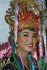 Sumatran beauty in traditional head dress, Bengkulu, Southwest Sumatra