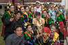 Bengkulu entertainers with ship's staff, Bengkulu, Southwest Sumatra