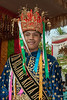 Good looking Sumatran man wearing traditional dress, Sumatran beauty in traditional dress, Bengkulu, Southwest Sumatra